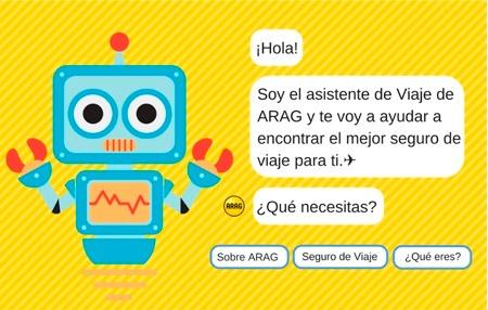 Chatbot de Arag de seguros de viaje