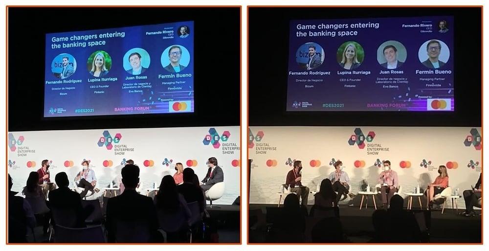 Fotos de la mesa redonda en el Banking Summit del DES
