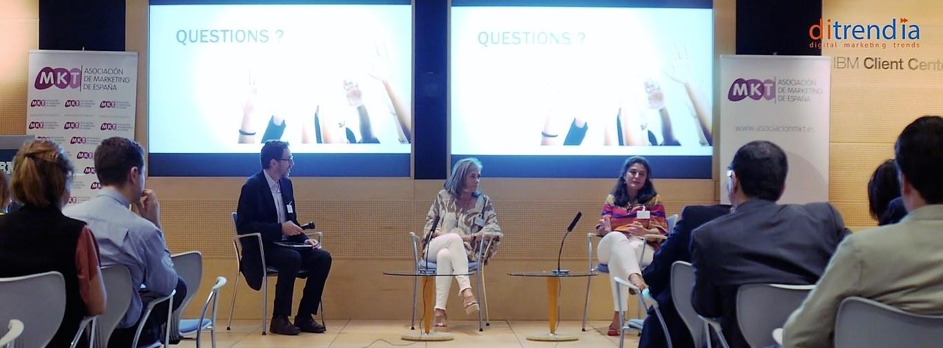 Agata Viloca Directora de Marketing de Arquia Banca y Loreto Nuñez de Valverde Directora de CRM Analítico de Banco Popular