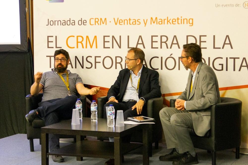 Ivan Fanego, Javier Panzano y Fernando Rivero, CRM Sesion