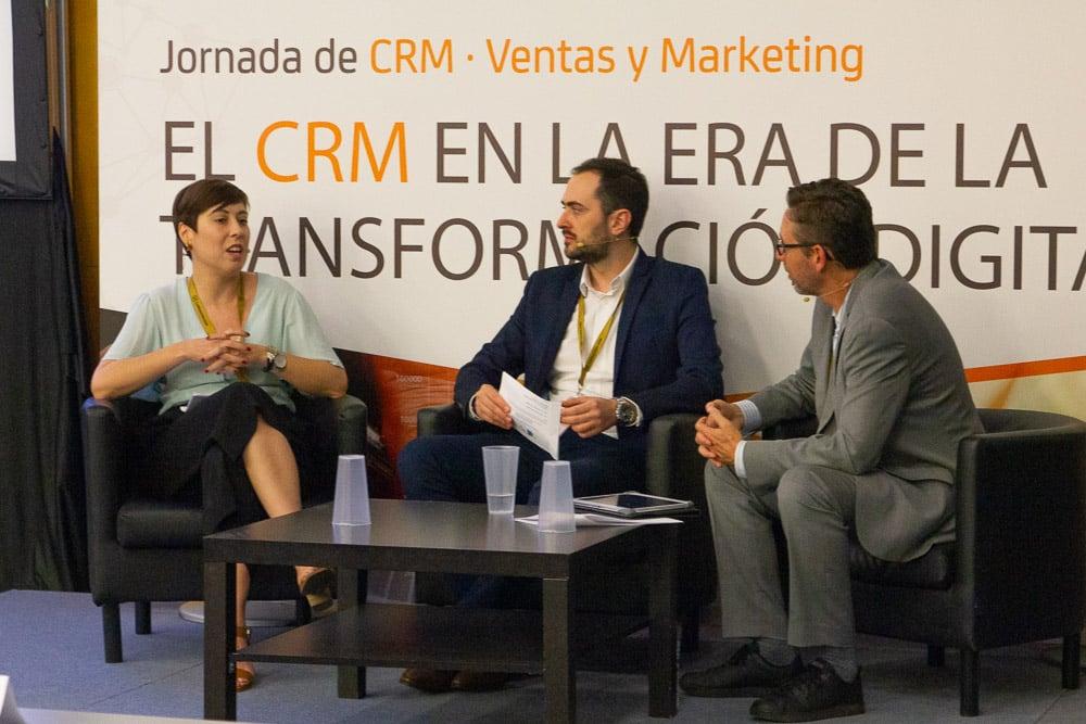 Mercedes Villar, Diego Gallego y Fernando Rivero, CRM Sesion