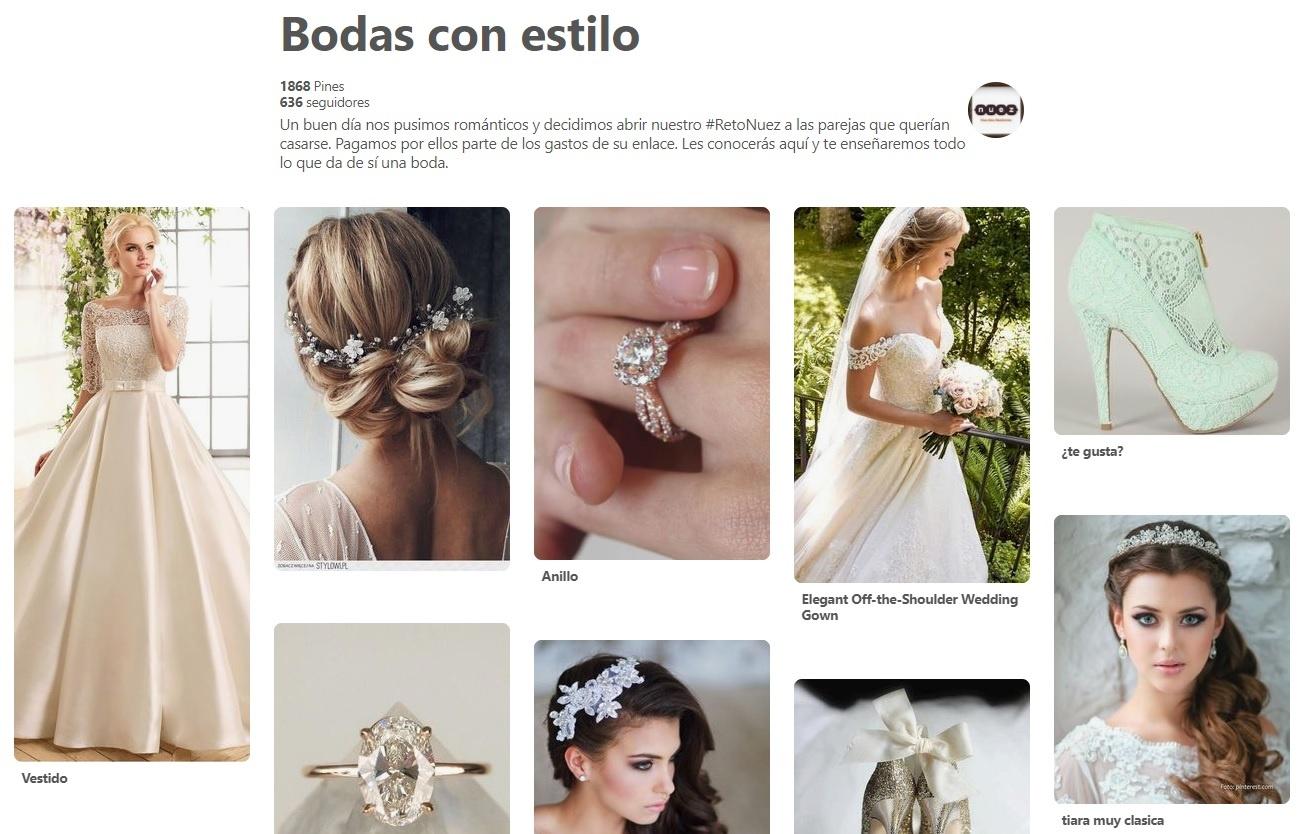 Aseguradoras en redes sociales - Nuez Seguros y su tablero de Bodas con estilo