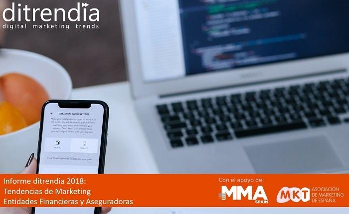 Portada informe tendencias de marketing entidades financieras y aseguradoras 2018-700x430