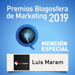 Premios Blogosfera de Marketing 2019-Mencion Especial Luis Maram