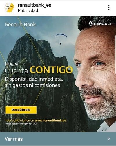 Renault bank publicidad instagram